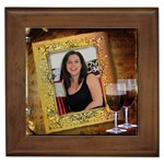 Red Wine on Tile - Framed Tile