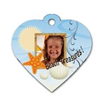 summer - Dog Tag Heart (One Side)