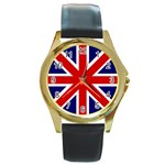 gb - Round Gold Metal Watch