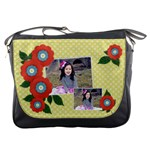Messenger Bag - Red Flowers