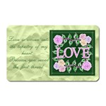 Love is sewn into my heart - Magnet (Rectangular)