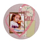 the girl - Ornament (Round)
