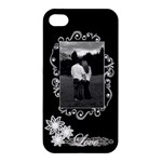 Black White love Apple iPhone4/45 case - Apple iPhone 4/4S Hardshell Case