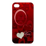 Red love Apple iPhone4/45 case - Apple iPhone 4/4S Hardshell Case