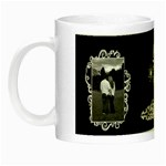 Black white frill Night Luminous Mug