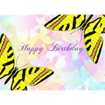 Butterfly Birthday - Birthday Cake 3D Greeting Card (7x5)