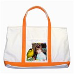 Wilson Warbler Two tone Tote Bag