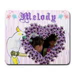 Melody Heart Frame Collage Mousepad