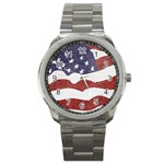 flag sport metal watch