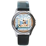 swim - Round Metal Watch