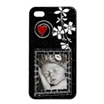 Black and White Apple iPhone 4/4S Seamless Case - iPhone 4/4s Seamless Case (Black)