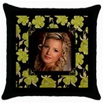 Our Poppy Throw Pillow - Throw Pillow Case (Black)