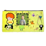 Child with critter pencil case
