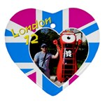 London Heart Ornament (2 sided) - Heart Ornament (Two Sides)