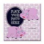 Pink Hippo Tile Coaster