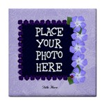 Purple Ladybugs Tile Coaster