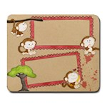 monkey mouse pad  - Collage Mousepad