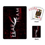 FEAR Team Playing Cards - Playing Cards Single Design (Rectangle)