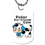 Polar Ice-Cream Cow Dog Tag - Dog Tag (One Side)