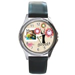 life is good - Round Metal Watch