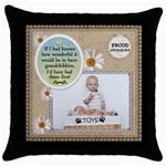 Grandmas Throw Pillow Case - Throw Pillow Case (Black)