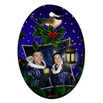 Chrismas Cheer Oval Ornament (2 sided) - Oval Ornament (Two Sides)
