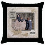 Grandpas Throw Pillow Case - Throw Pillow Case (Black)