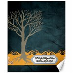 Melissa Guest Book dark blue yellow - Canvas 16  x 20