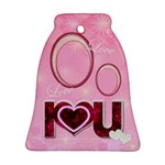 I Heart You Love Bell Ornament - Ornament (Bell)