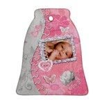 Spring Pink Baby Love Bell Ornament - Ornament (Bell)
