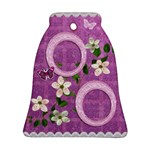 Spring Purple Love Bell Ornament - Ornament (Bell)