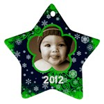 Scroll Upon a Star snowflake 2012 star ornament - Ornament (Star)