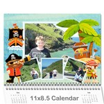 Pirate Pete 2019 Calendar - Wall Calendar 11  x 8.5  (12-Months)