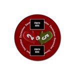 Christmas Clusters Coaster 4 pack 2 - Rubber Round Coaster (4 pack)