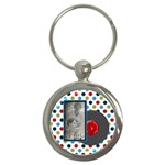 Rockin  Around the Christmas Tree Keychain - Key Chain (Round)