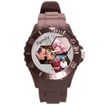 Family Round Plastic Sport Watch Large - Round Plastic Sport Watch (L)