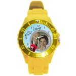 Our Day Round Plastic Sport Watch Large - Round Plastic Sport Watch (L)