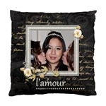L amour single sided cushion cover - Standard Cushion Case (One Side)