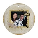 Je Taime  single sided ornament - Ornament (Round)