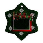 Happy Holidays Ornament - Ornament (Snowflake)