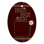 Ho Ho Ho Oval Ornament - Ornament (Oval)