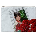Framed with Roses Cosmetic Bag XXL - Cosmetic Bag (XXL)