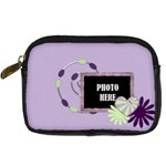 Lavender Rain Camera Case 2 - Digital Camera Leather Case