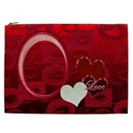 I Heart You Red XXL Cosmetic Case - Cosmetic Bag (XXL)
