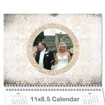 art nouveau antique lace 2019 calendar - Wall Calendar 11  x 8.5  (12-Months)