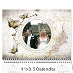 Je Taime I Love You 2019 calendar - Wall Calendar 11  x 8.5  (12-Months)