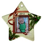 2012 Christmas Ornament (2 Sides) - Star Ornament (Two Sides)