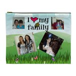 I love my famiy Cismetic bag (XL) 2 sides - Cosmetic Bag (XL)