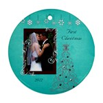 Bethanys 1sy Christmas 2 - Ornament (Round)
