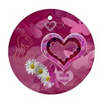 Breast Cancer Awareness Round ornament - Ornament (Round)